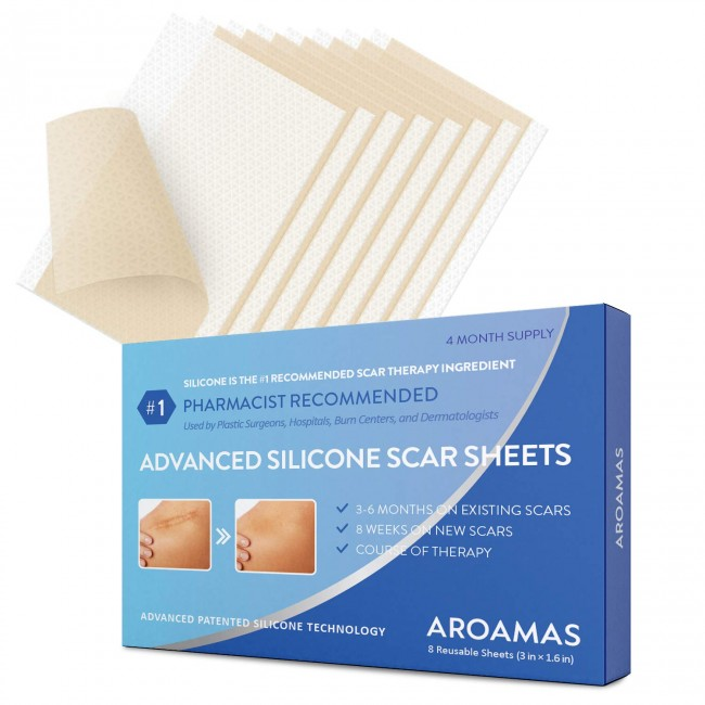 St. Mege Medical-Grade Drug-Free Silicone Scar Sheets