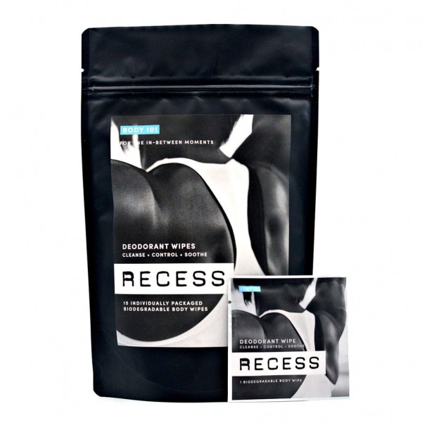 Recess Aluminum-Free Deodorant Wipes