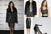 Naya Rivera Fierce In Fur And Leather At Switch Boutique's Holiday Party: Celebrity Copycat [GET THE LOOK]