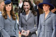 Kate Middleton in Michael Kors coat