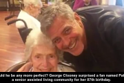 George Clooney Surprises Fan for Her 87th Birthday