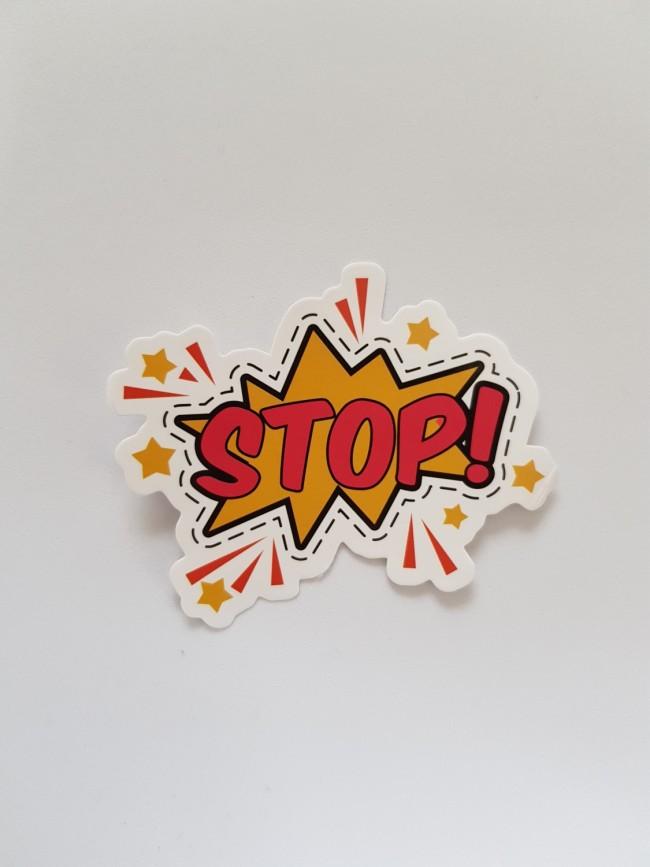 STOP stars sticker