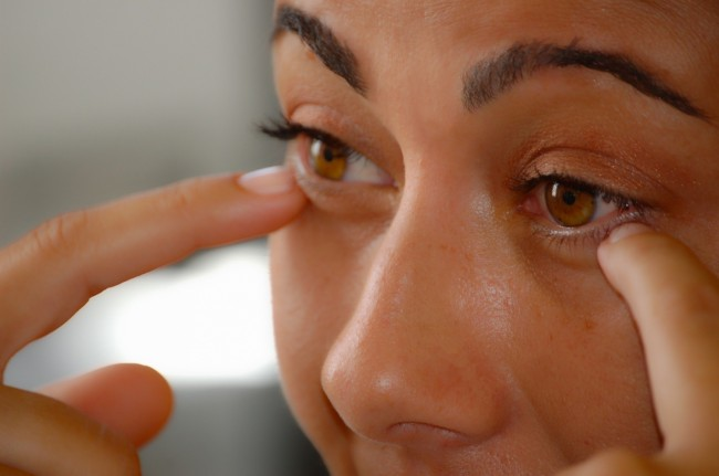 woman with dark circles