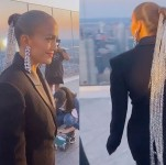 Jennifer Lopez Shows Trendy Hairstyle with Her Epic Silver Chain Ponytail for a New Music Video