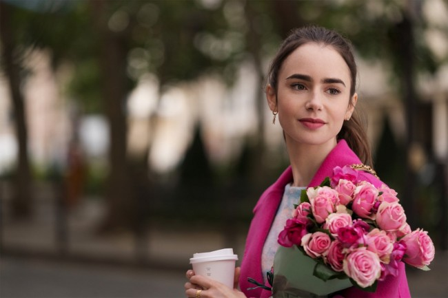 "Get to Know the French-Girl Beauty Tips from Star Lily Collins of ""Emily in Paris"""